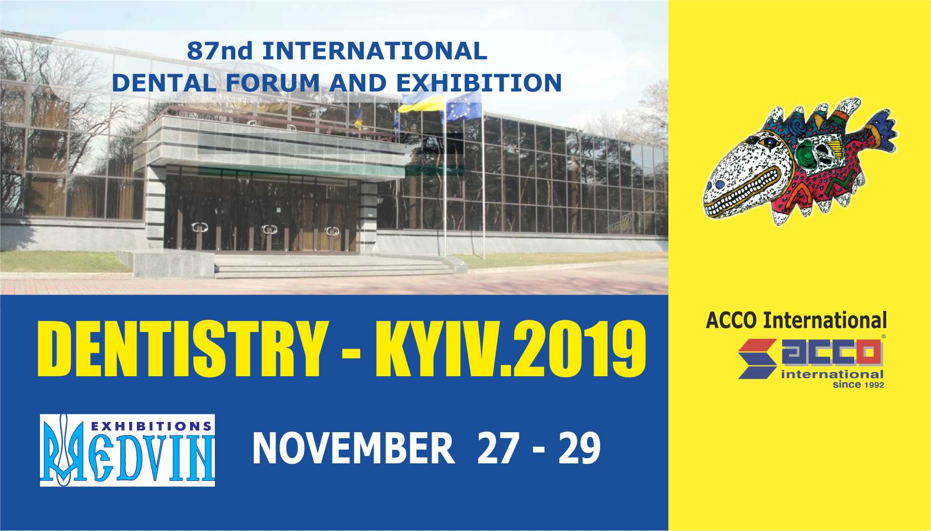 "Ticket to the exhibition ""MEDVIN: Expodental - KIEV, November 27-29, 2019"""